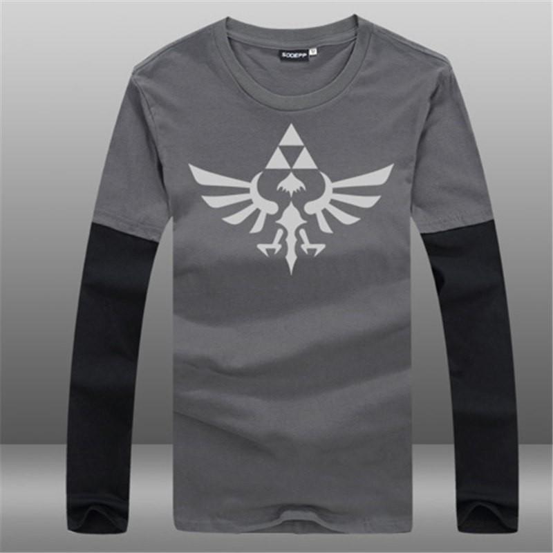 Timecosplay Nintendo The Legend of Zelda Men Game Long Tee Shirt