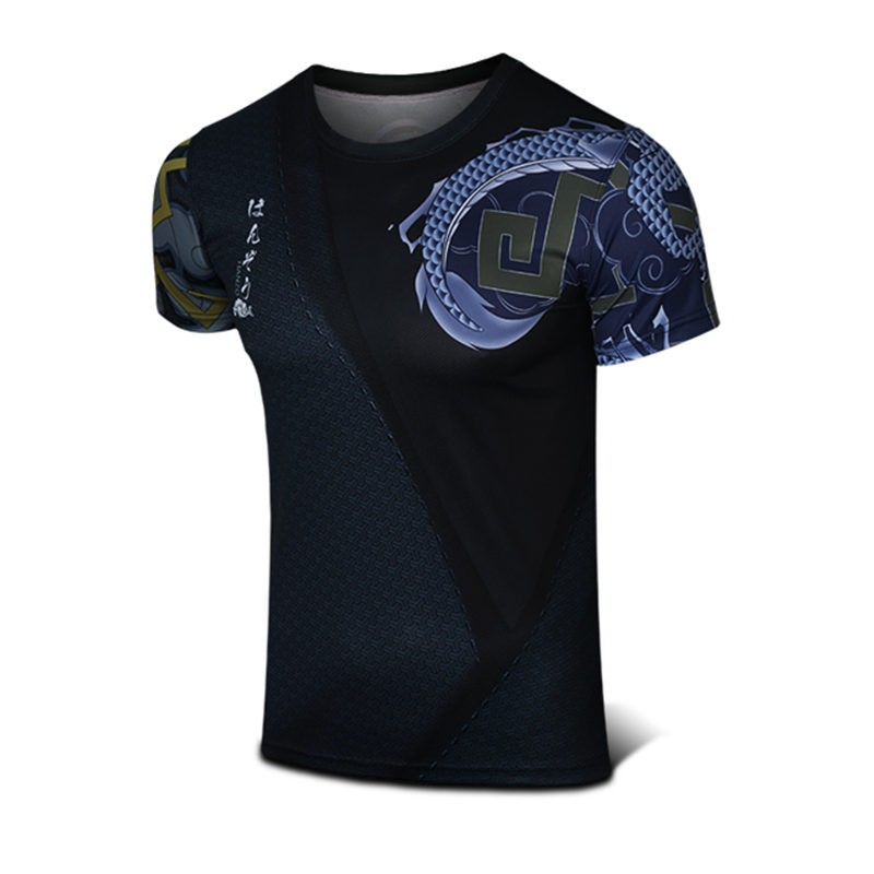 Timecosplay Overwatch Hero Hanzo Cosplay Sport Tight 3D Tee Shirt