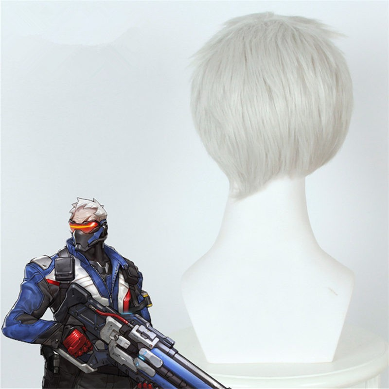 Timecosplay OW Overwatch SOLDIER 76 Cosplay Wigs