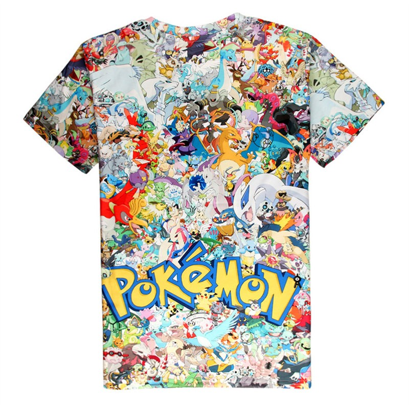 Timecosplay Pokemon GO 2016 3D Print Harajuku Men Tee Shirt