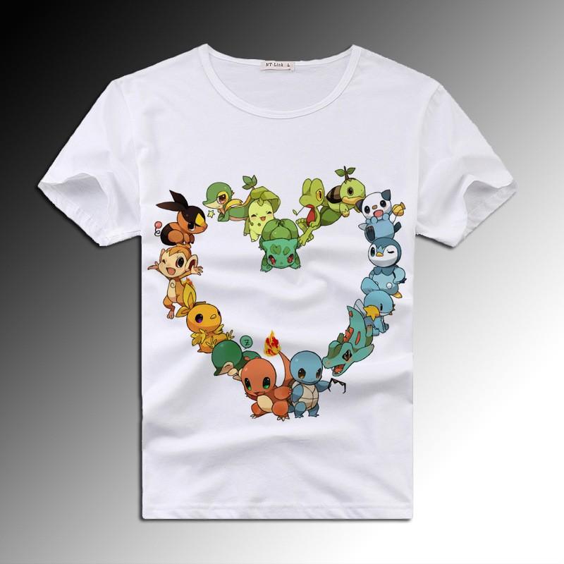 Timecosplay Pokemon Go 3D Icon Short Sleeve Tee Shirt