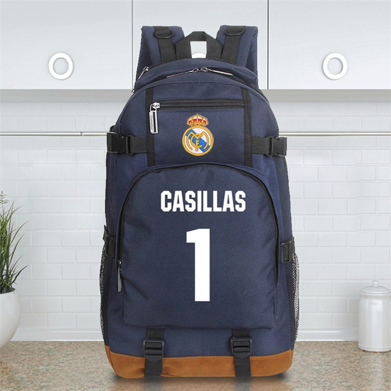 Timecosplay Real Madrid Iker Casillas Fernandez 1 Schoolbag Backpack