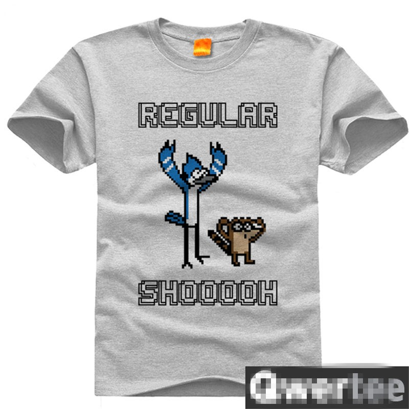 Timecosplay Regular Show Mordecai&Rigby Short Sleeve T-Shirts