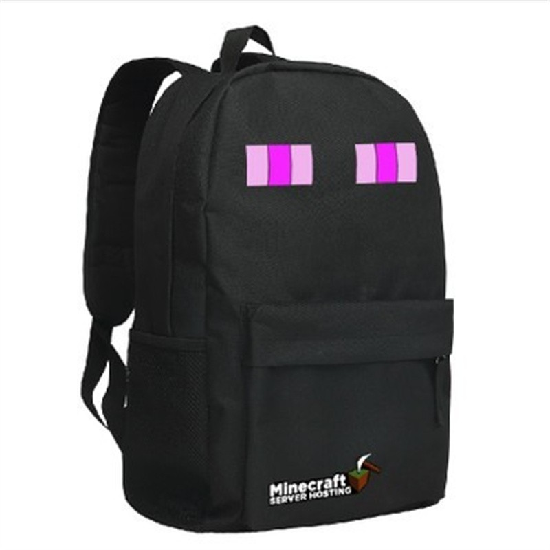 Timecosplay Minecraft SEnderman Cosplay Bag School bag Backpack