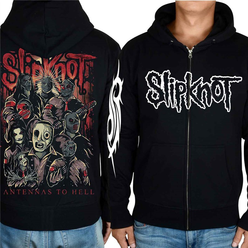 Timecosplay Slipknot 3D Rock Style Zip Hoodie