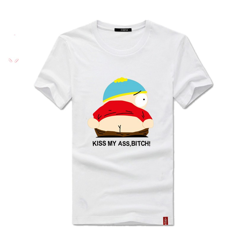 Timecosplay South Park Eric Kiss My Ass,BIATCHo Short Sleeve Tee Shirts