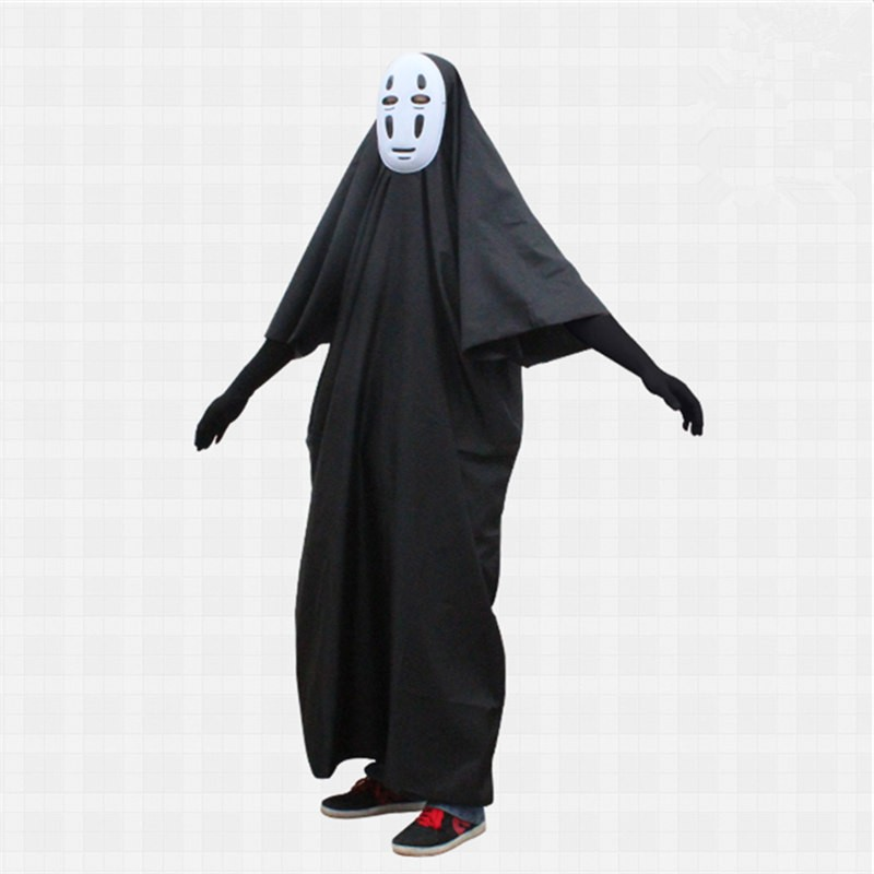 Miyazaki Hayao Spirited Away Cosplay No Face Cosplay Costume