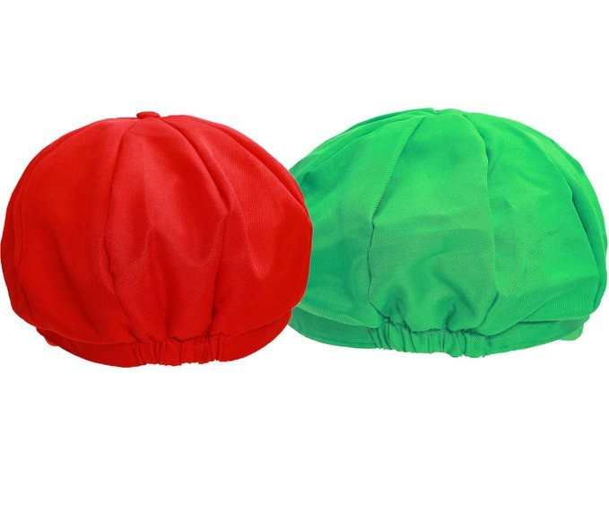 Timecosplay Super Mario Bros Hat Luigi Cap Cosplay Red Green  2 PCS