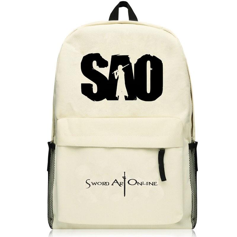 Timecosplay Sword Art Online Kirigaya Kazuto Kirito  SAO Logo Schoolbag Backpack