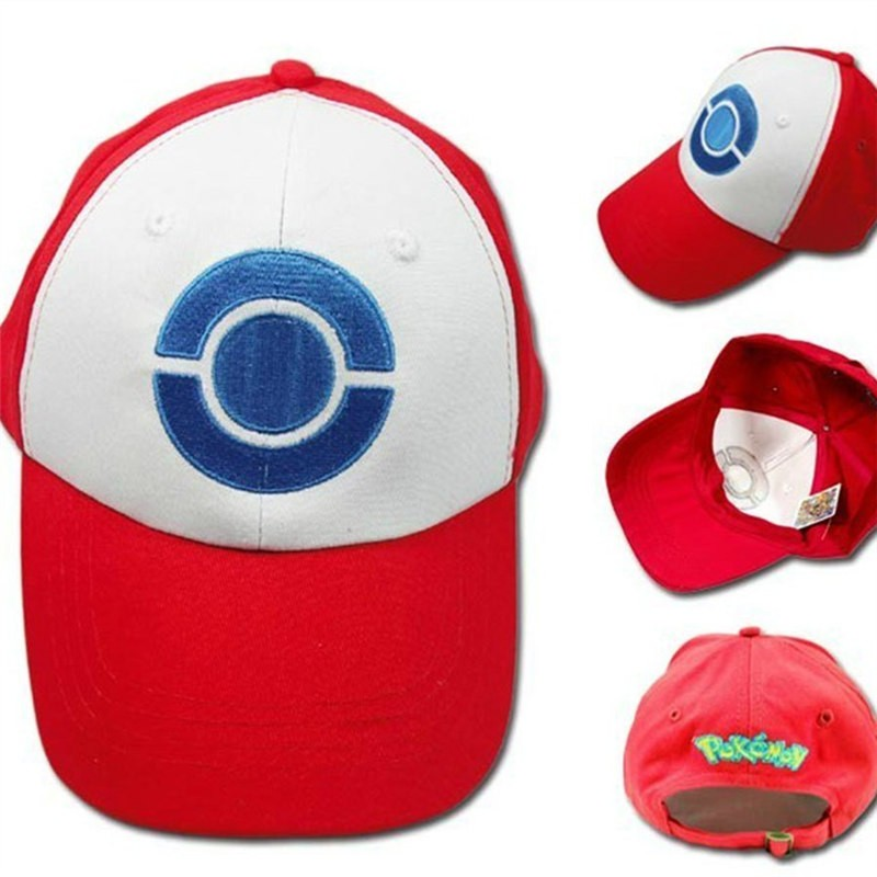 Timecosplay Game Pokemon Ash Hat Ketchum Cosplay Hat Cap