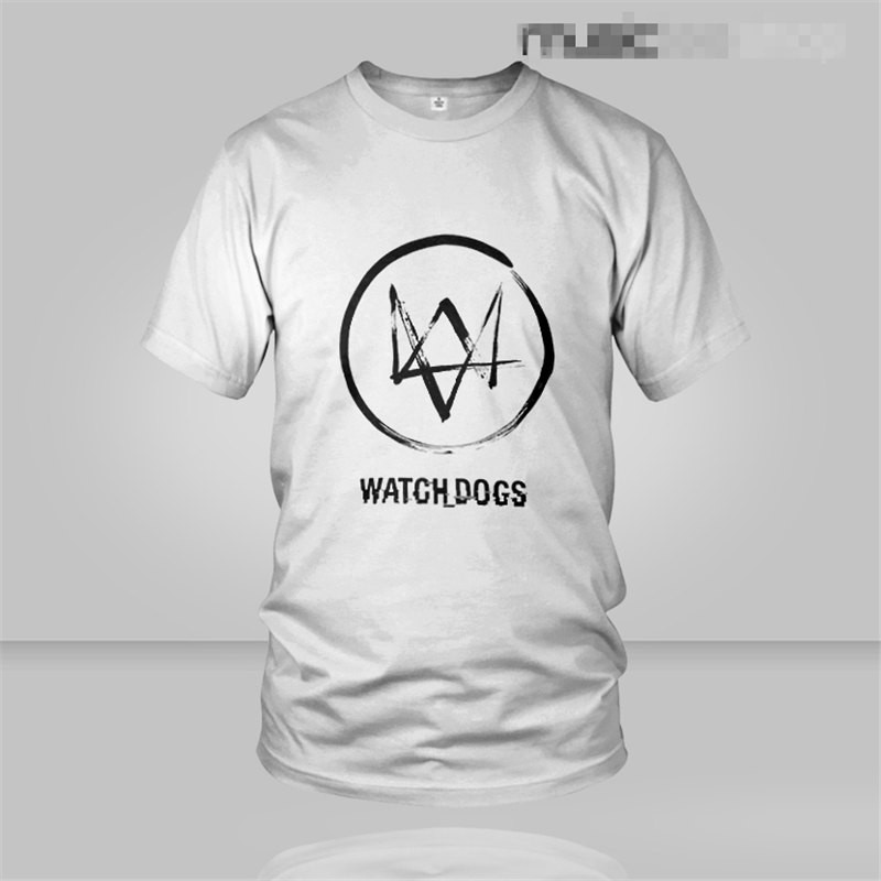 TimeCosplay Watch Dogs Logo Men Tee Shirt