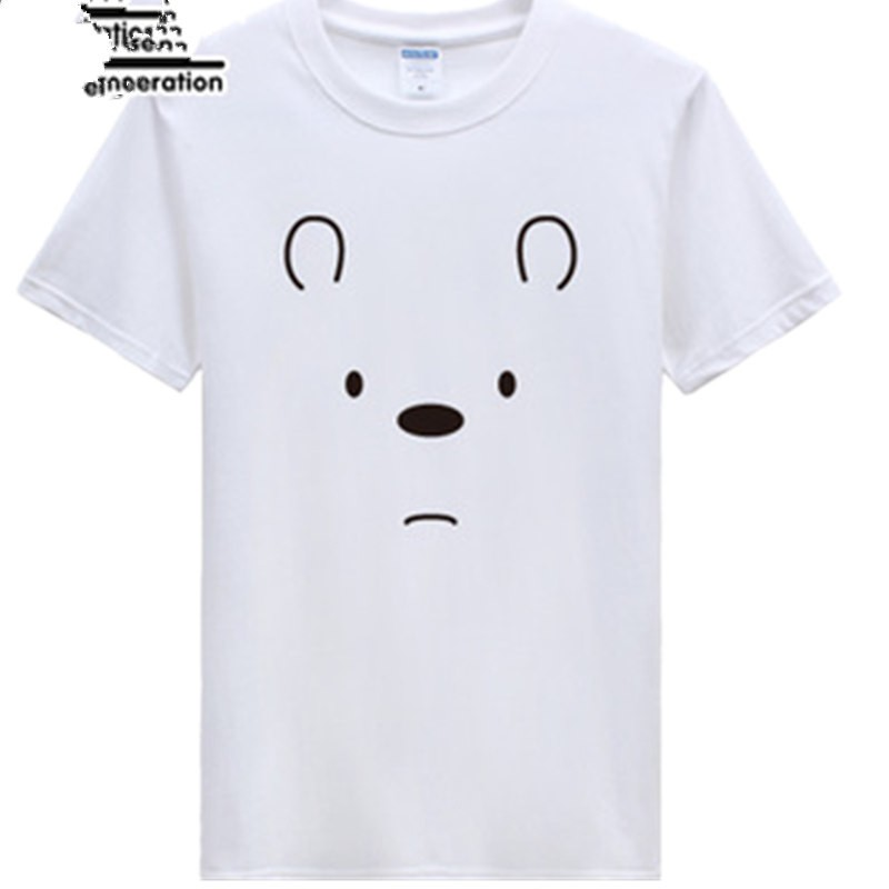Timecosplay WBB We Bare Bears IceIce Bear Short Sleeve Tee Shirts
