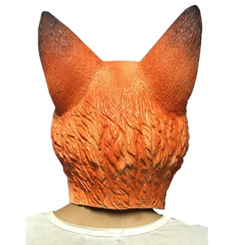 TimeCosplay Zootopia Nick Wilde Fox Cosplay Latex Mask Halloween