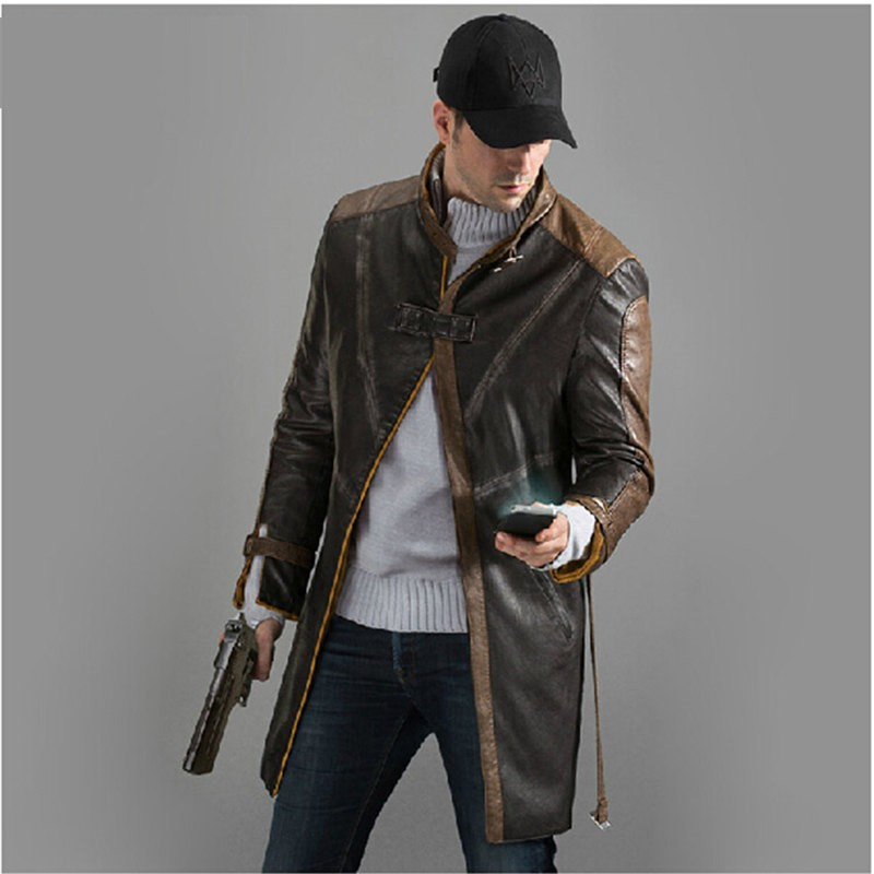 Watch Dogs Aiden Pearce Coat Cosplay Costumes