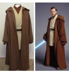 Star Wars Obi-Wan Jedi Master Original Costumes Cosplay-Deluxe Version