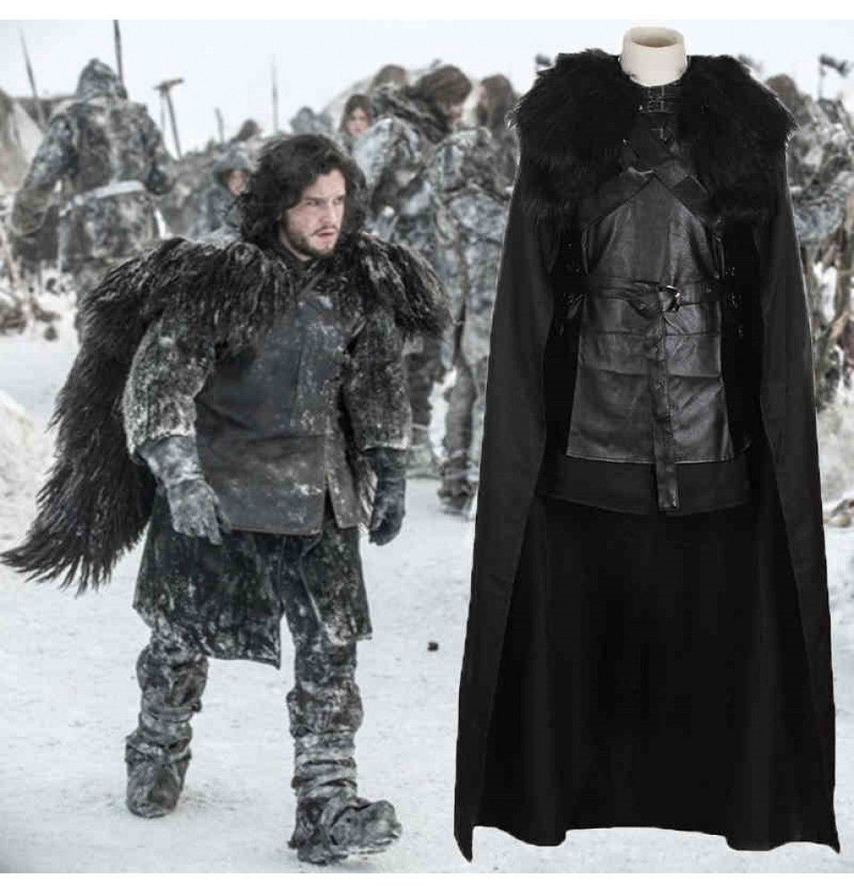 Game of Thrones Night's Watch Jon Snow Outfit Full Set Cosplay Costume