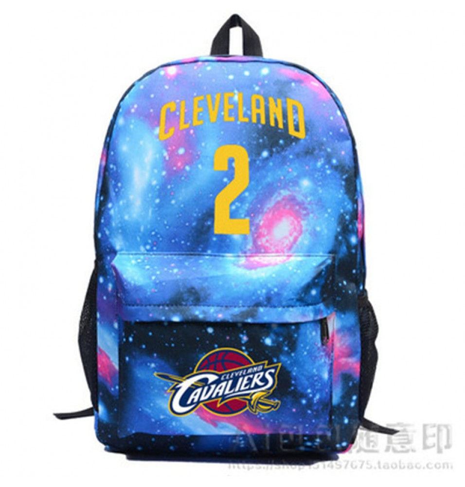 Cleveland Cavaliers Kyrie Irving  IRVING 2 Star Backpack School Bag