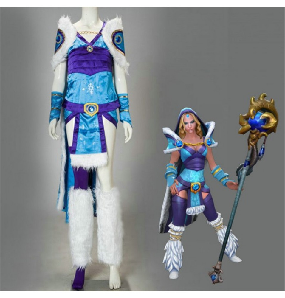 Timecosplay Dota2 Crystal Maiden Cosplay Costumes