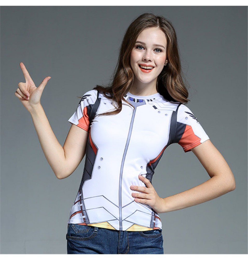 Timecosplay OW Overwatch Mercy Cosplay Short sleeve Tee-shirt