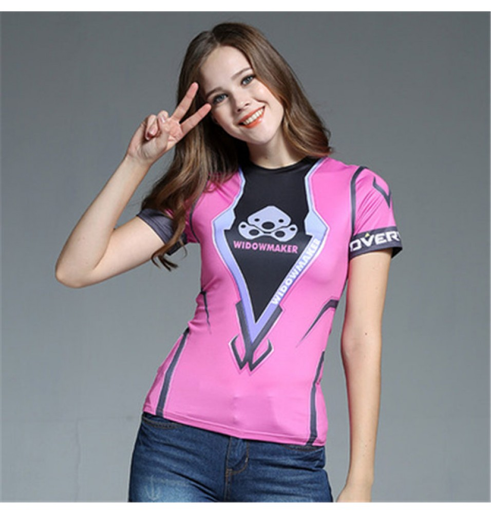 Timecosplay OW Overwatch Widowmaker Cosplay Short sleeve Tee-shirt