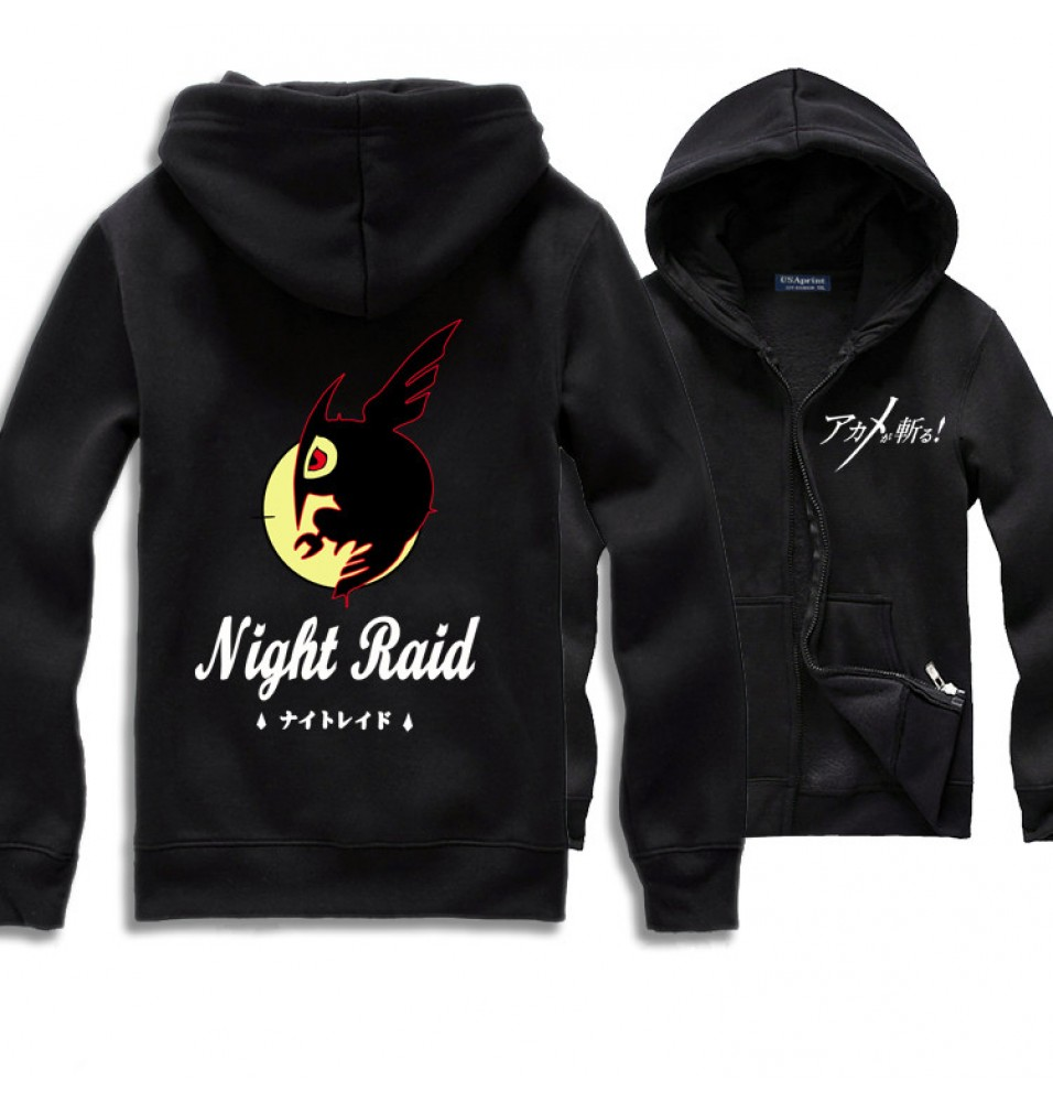 Akame Ga Kill! Night Raid Logo Zip Hoodies