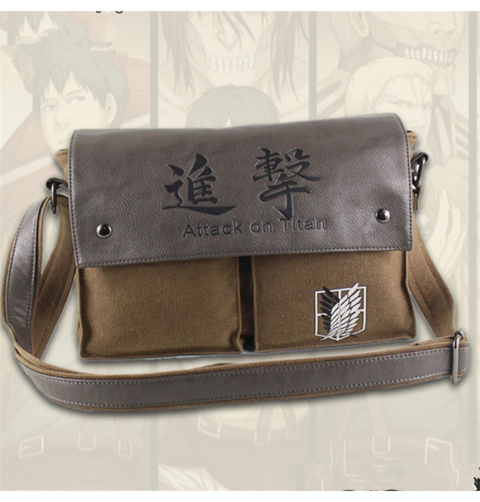 Attack on Titan Canvas Shoulder Messenger Bags