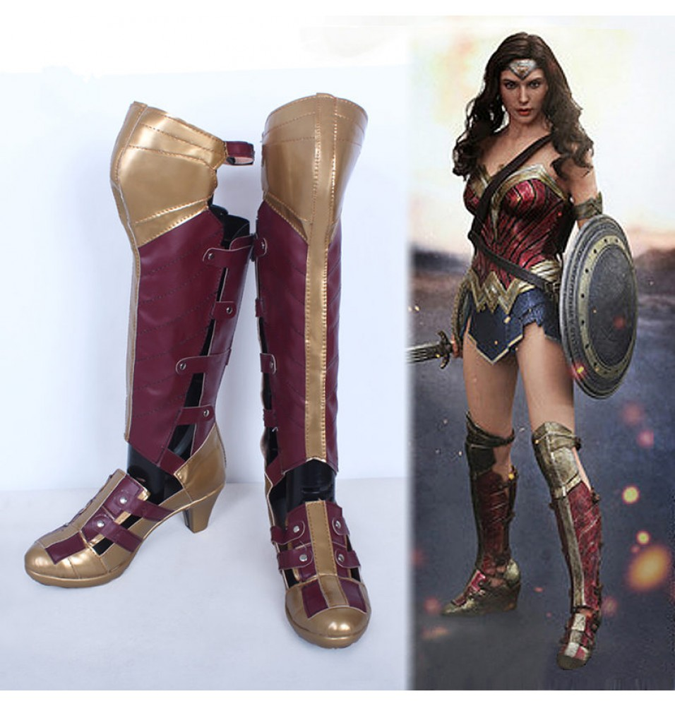 Batman v Superman: Dawn of Justice Wonder Woman Shoes Cosplay Halloween Boots