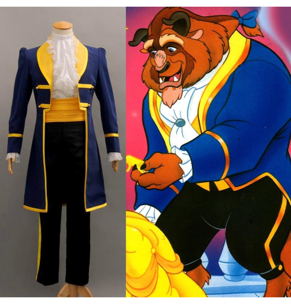 Beauty and the Beast Cosplay Prince Adam Uniform Outfit Costume
