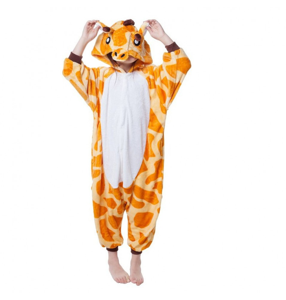 Childrens Halloween Giraffe Onesie Kigurumi Onesie Animal Pajama Cosplay For Kids