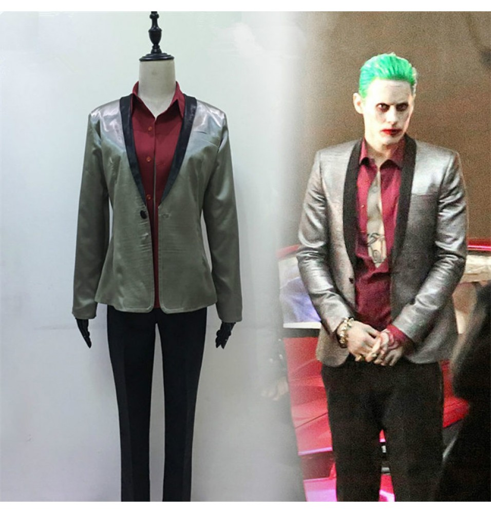 DC 2016 Movie Suicide Squad Batman Joker Cosplay Suit Costume