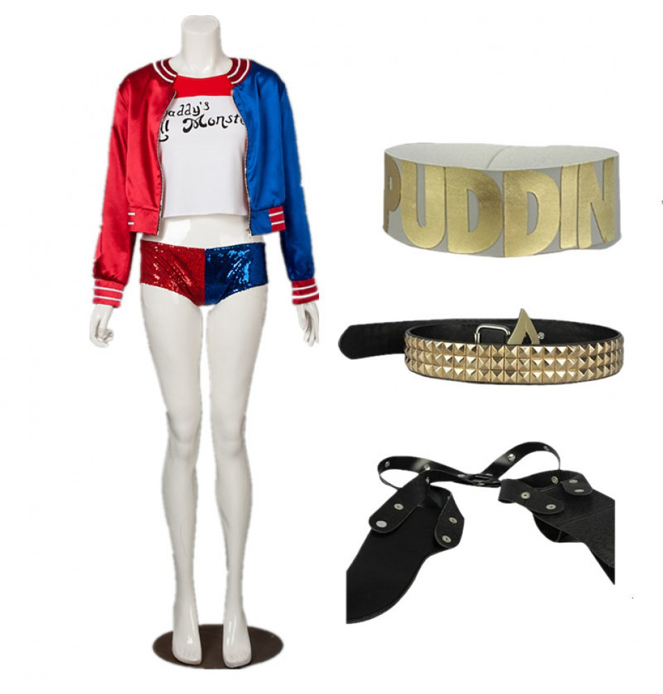 Buy Harley Quinn Cosplay Costume, Harley Quinn Halloween Costume ...