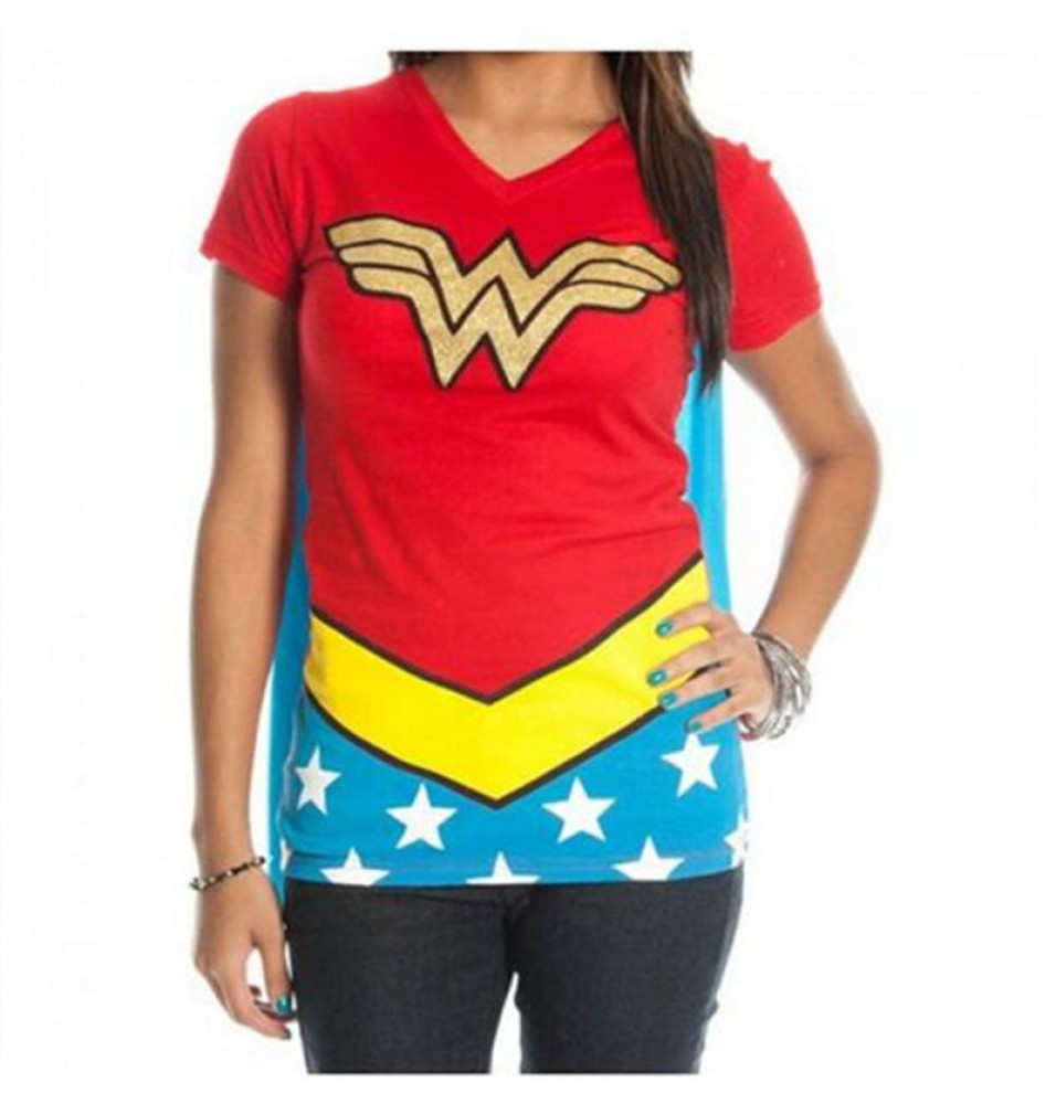 DC Diana Prince  Wonder Woman Cosplay T-Shirt