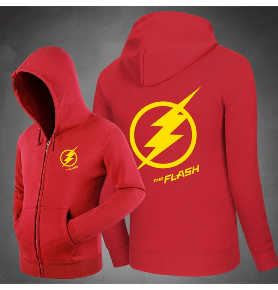 DC The Flash Star Logo Zipper Hoodies