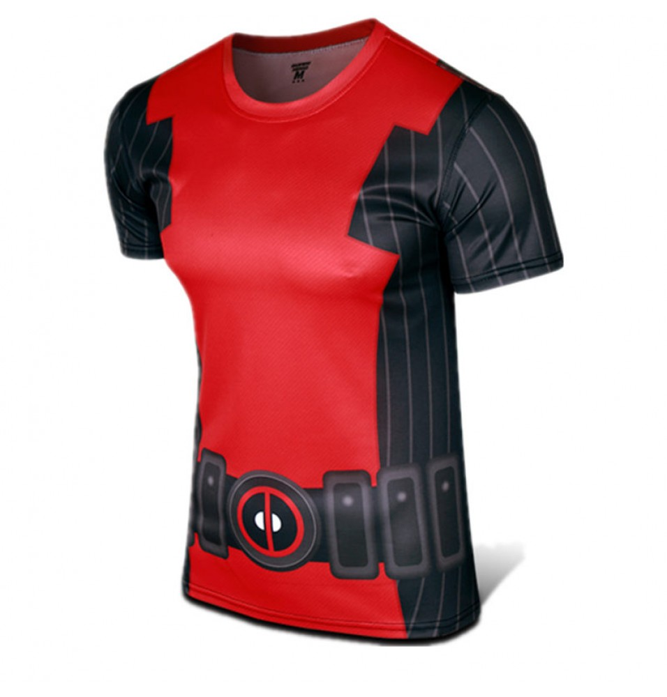 Deadpool Cosplay Sports T-shirt