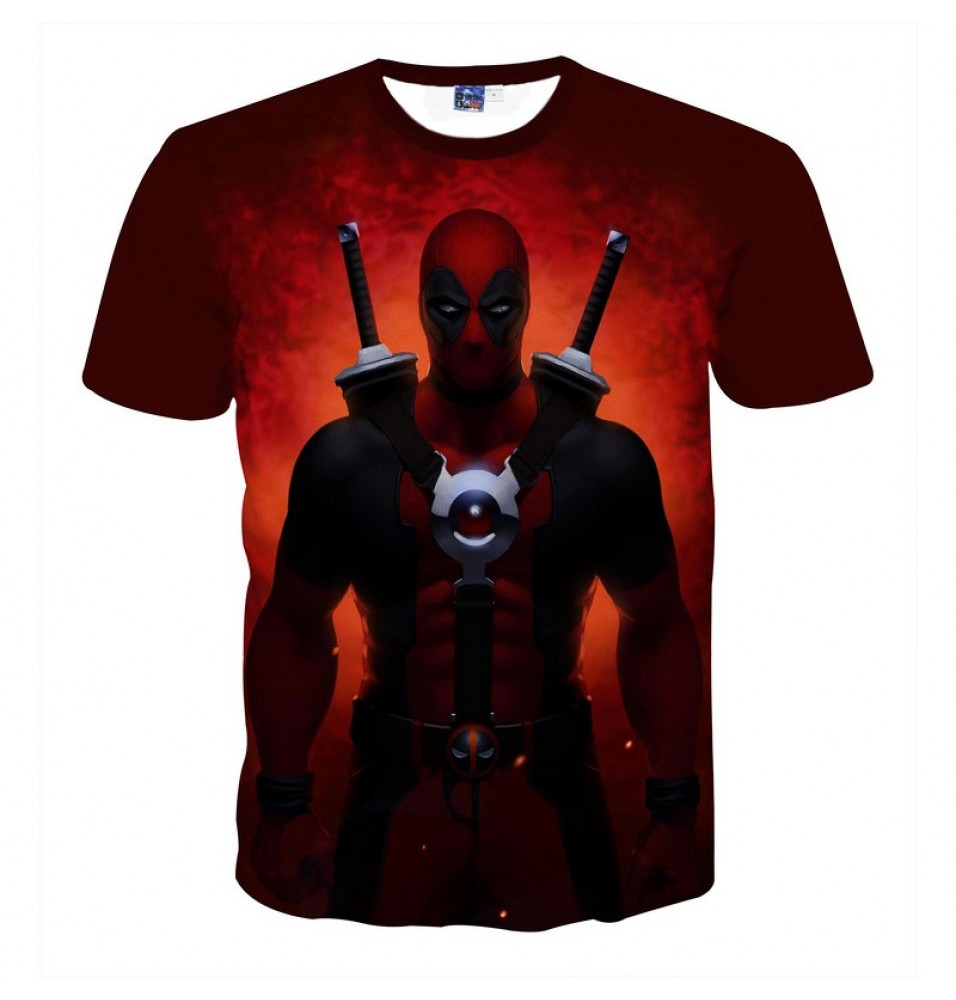 Deadpool Movie 3D Men T-Shirt Tee Shirt