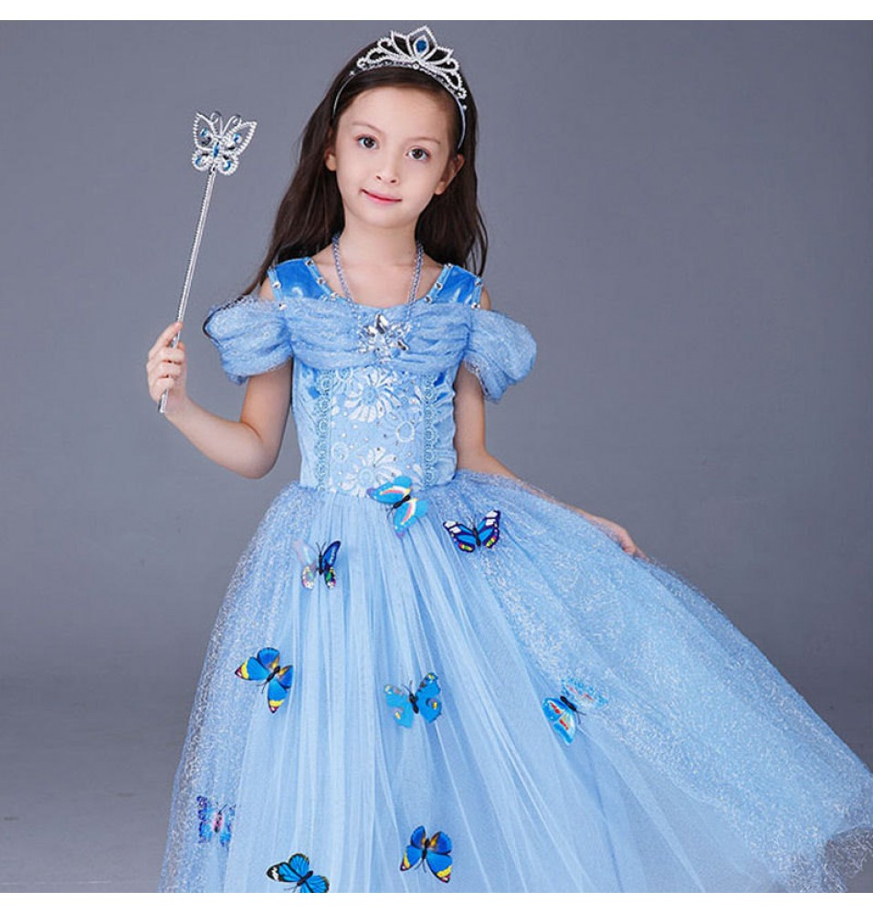 Disney Cinderella Princess For Kids Dress Cosplay Halloween