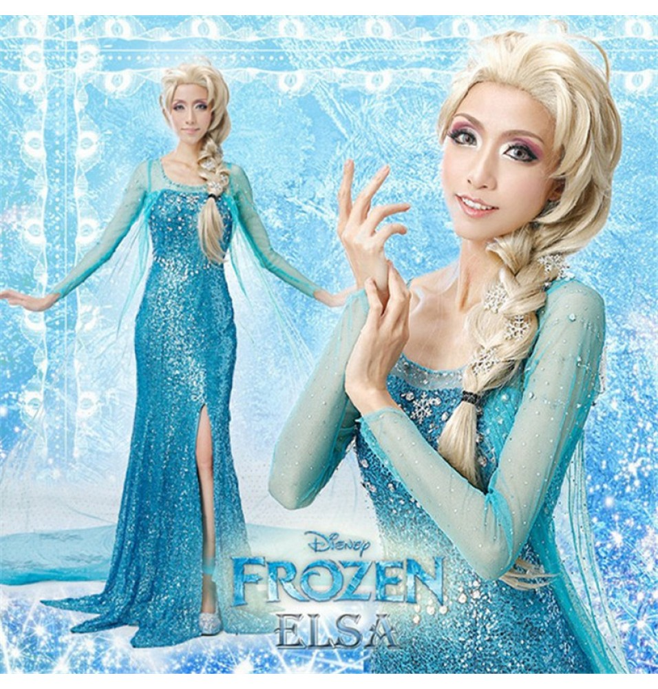 Disney Frozen Elsa Dress Cosplay Costumes