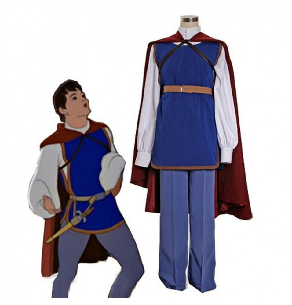 Disney Movie Snow White Prince Full Outfit Party Costumes Cosplay