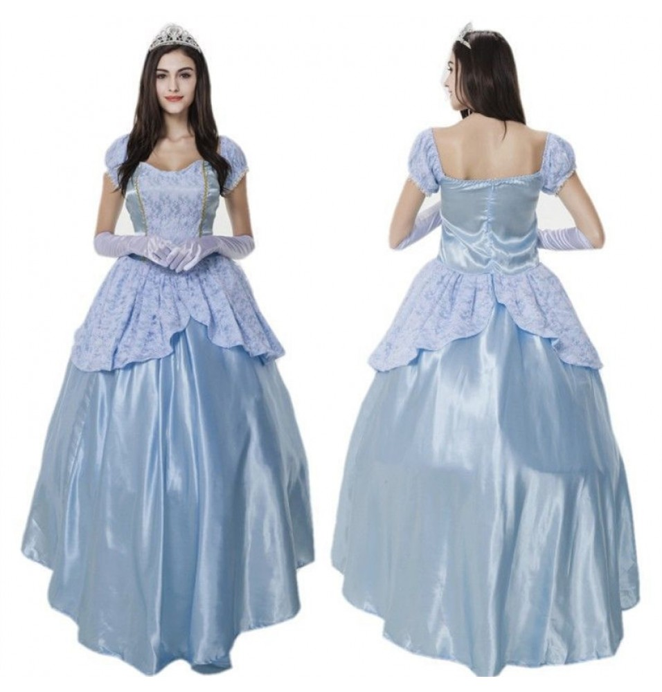Disney Princess Cinderella Adult Fancy Dress Costume Cosplay