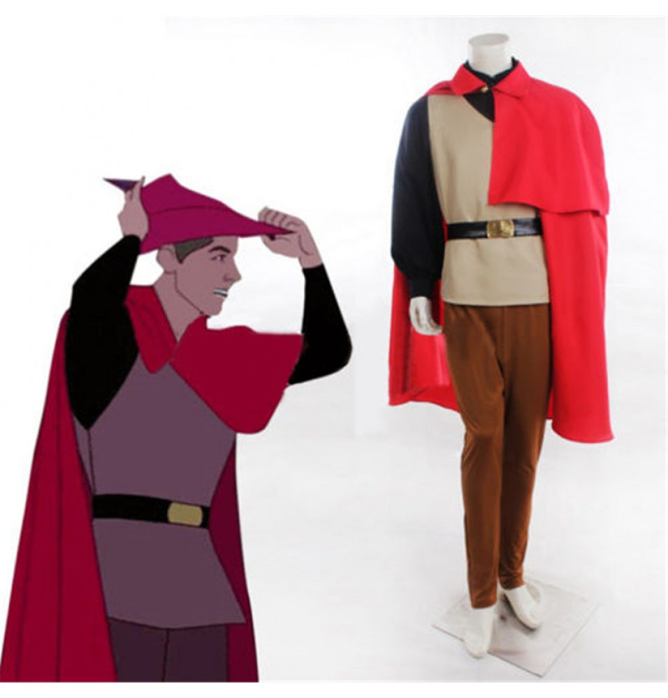 Disney Sleeping Beauty Prince Phillip Cosplay Outfit Costume Halloween