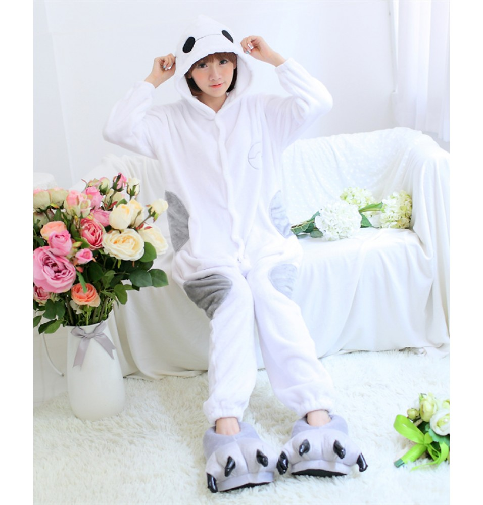 Big Hero Chubby Baymax Onesies Pajamas Unisex Flannel Kigurumi Onesies Winter Animal Pajamas For Adults