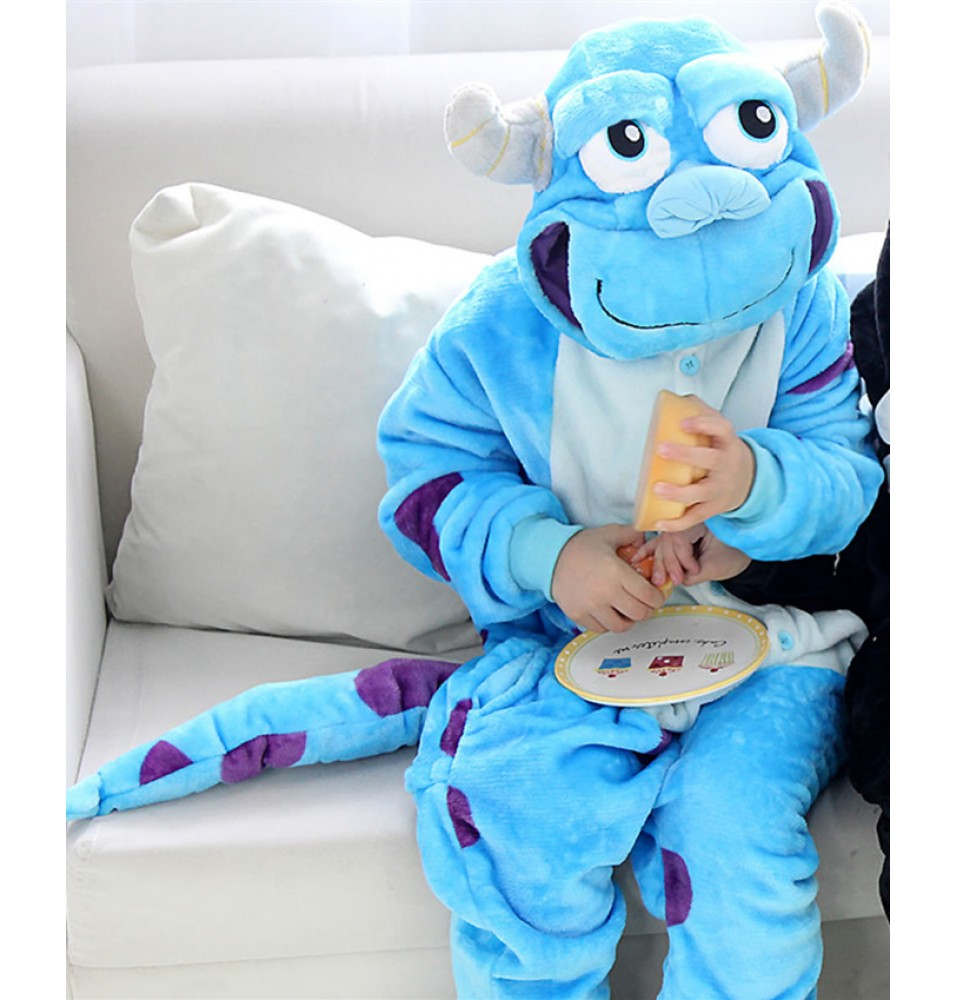Monster Sulley Sullivan Onesies Pajamas Flannel Children Kigurumi Onesies Winter Animal Pajamas For Kids