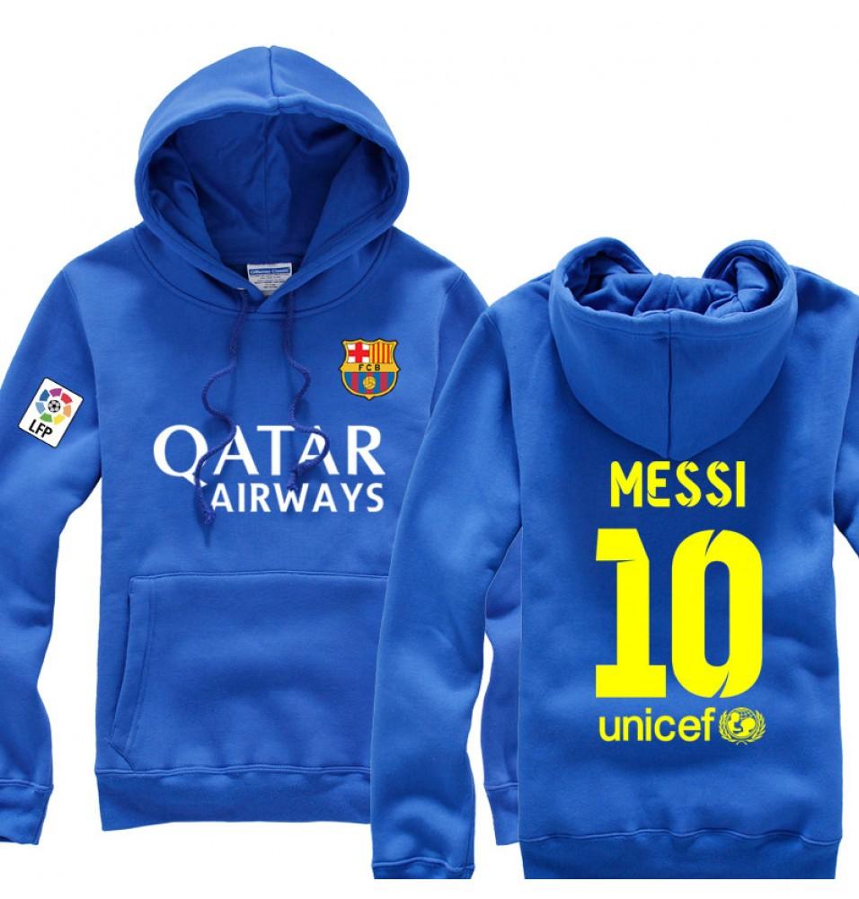Futbol Club Barcelona Qatar Airways Messi 10 Pullover Hoodies