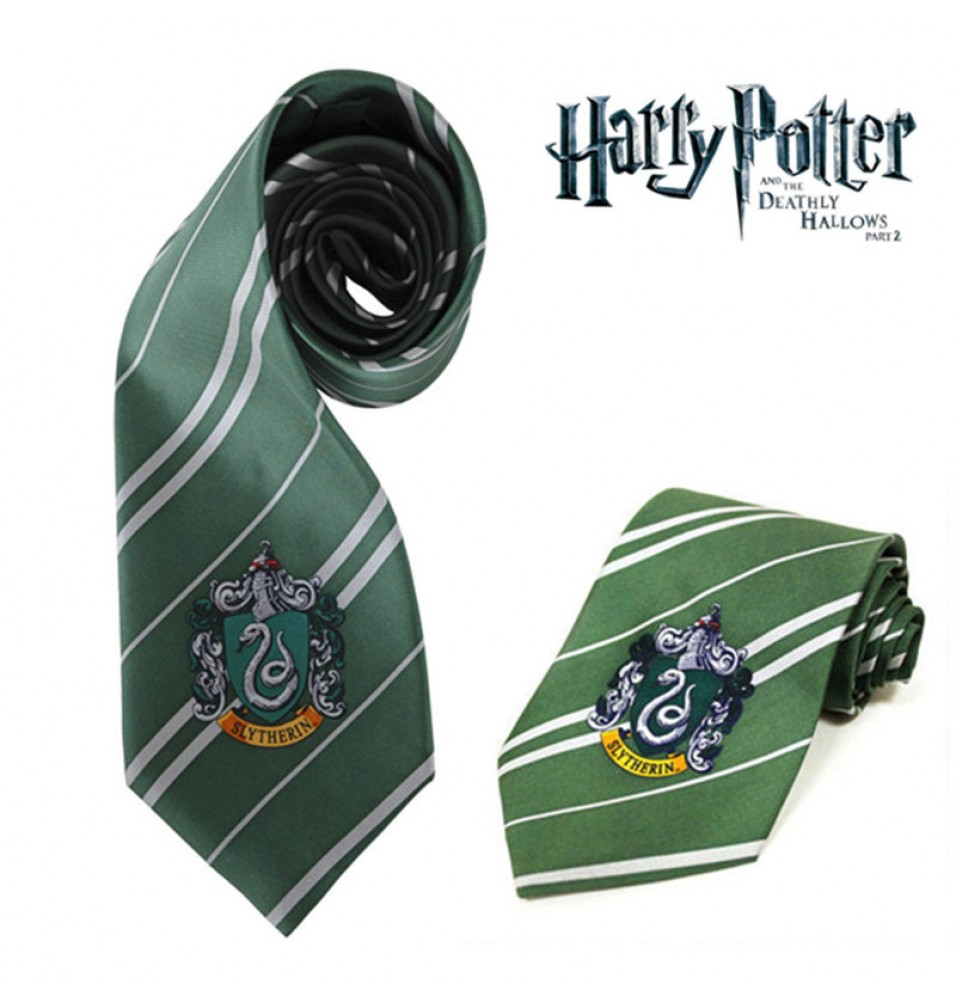 Harry Potter Slytherin Silk Tie