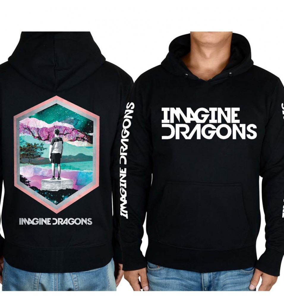 Imagine Dragons 3D Image Zipper Hoodies