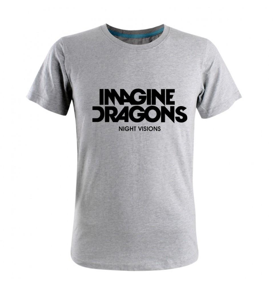Imagine Dragons Logo Rock Men T-shirt Tee Shirt