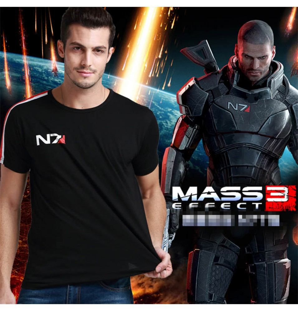 Mass Effect 3 N7 Logo Short Sleeve T-shirt Tee Shirt