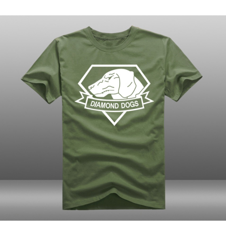 Metal Gear Solid Diamond Dogs Logo Short Sleeve T-Shirts