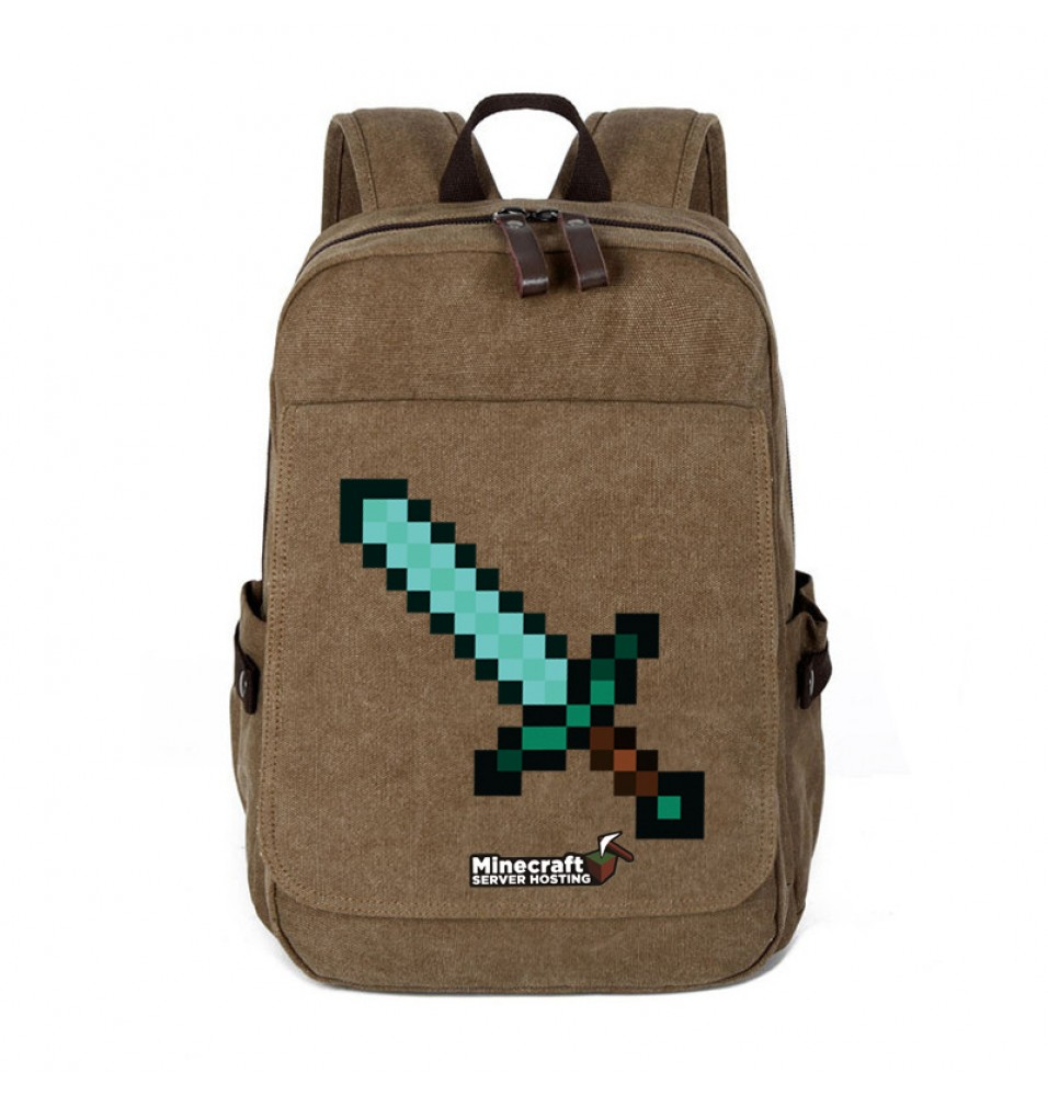 Minecraft Diamond Sword Logo Backpack Shoulder School Bags