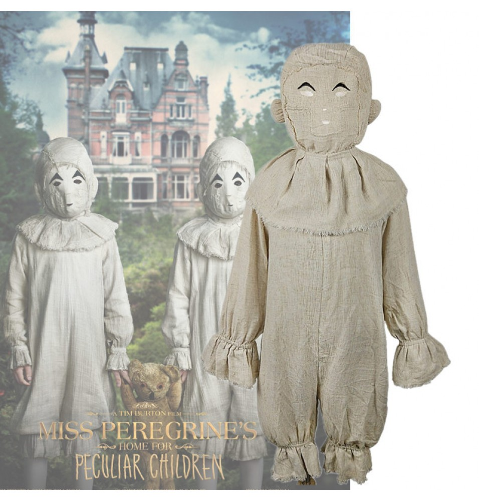 Miss Peregrine's Home for Peculiar Children Cosplay Twins Scary Coverall Kids Halloween Customes